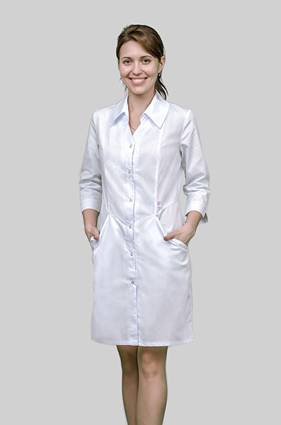 Классический халат (мед халат для студента) C-127