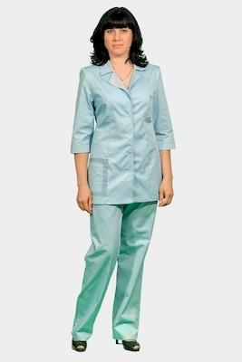 Классический женский медицинский костюм К-232 ИЗУМРУД