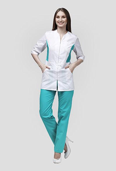 Медицинский костюм с  отделкой К-277-C