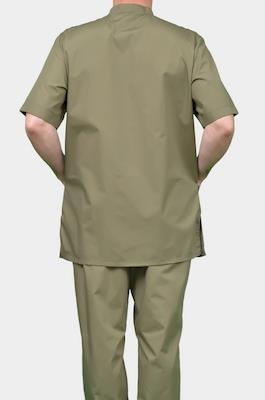Стильный мужской медицинский костюм К-290 ЗЕЛЕНЬ