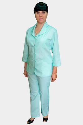 Медицинский костюм бирюзового цвета К-295 ЛАЗУРЬ