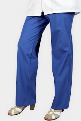 Медицинский костюм с синими брюками К-314