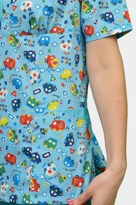 Женский медицинский костюм с детским рисунком К-356-Г