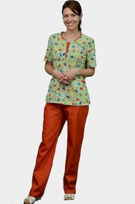 Женский медицинский костюм с детским рисунком К-356-З
