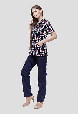 Цветной медицинский костюм К-909-28