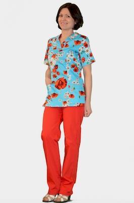 Цветной медицинский костюм К-909-10