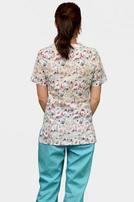 Цветной медицинский костюм К-909-24