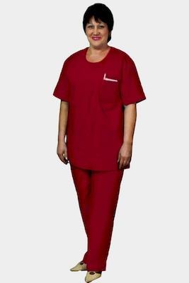 Костюм хирурга, женский, бордовый, М-12