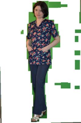 Цветной медицинский костюм К-909-ТС