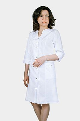Белый студенческий халат женский Х-304