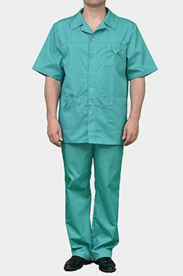 Мужской мед костюм К-203 зеленый, размер 60+