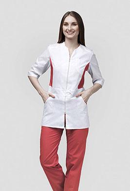 Медицинский костюм с цветной отделкой К-277-П