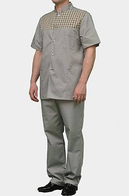 Стильный мужской медицинский костюм К-290 СЕРЫЙ
