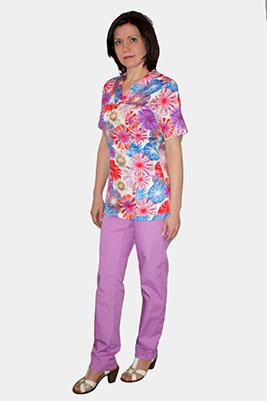 Цветной медицинский костюм размера 60+ К 909-0/1