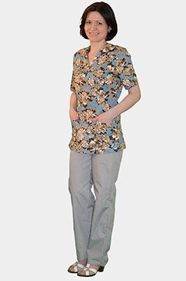 Цветной медицинский костюм К 909-15