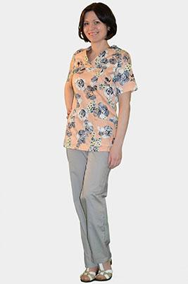 Цветной медицинский костюм К 909-16