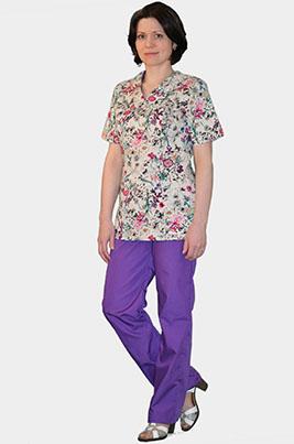 Цветной медицинский костюм К-909-1