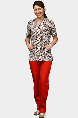 Цветной медицинский костюм К 909-22